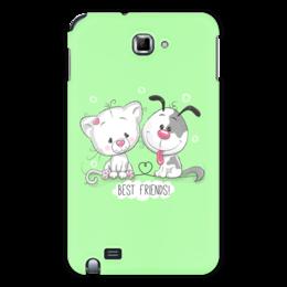 """Чехол для Samsung Galaxy Note """"Друзья"""" - мультяшки, друзья, рисунок, щенок, котёнок"""