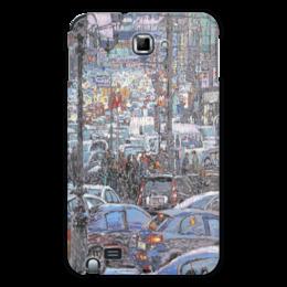 """Чехол для Samsung Galaxy Note """"Охотный ряд"""" - арт, москва, город, пейзаж, живопись"""