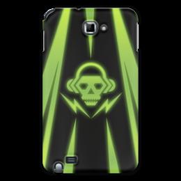 """Чехол для Samsung Galaxy Note """"Skull"""" - skull, music, dubstep"""