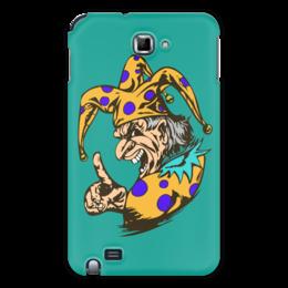 "Чехол для Samsung Galaxy Note ""Джокер предупреждает"" - joker, палец, джокер, желтый, шут"
