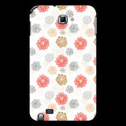 """Чехол для Samsung Galaxy Note """"Цветочный"""" - цветы, узор, орнамент, рисунок, арт"""