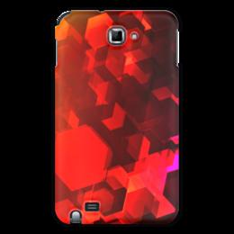 """Чехол для Samsung Galaxy Note """"Шестиугольники"""" - оригинальный, геометрический, узор, многоугольники, изометрия"""