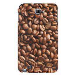 """Чехол для Samsung Galaxy Note """"Кофейные зерна"""" - кофе"""