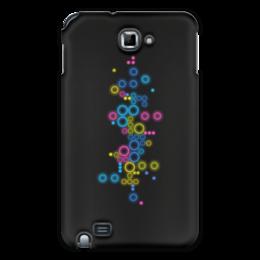"""Чехол для Samsung Galaxy Note """"Психоделика 2"""" - пузырьки, цвет, абстракция, чёрный фон"""