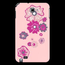 """Чехол для Samsung Galaxy Note """"Цветы"""" - цветок, розовый, несколько"""