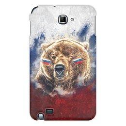 "Чехол для Samsung Galaxy Note ""Русский Медведь"" - флаг, триколор, россия, футбол, медведь"