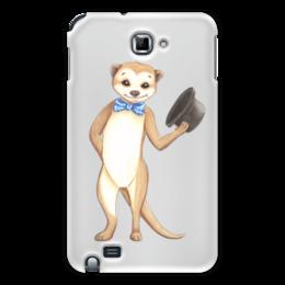 """Чехол для Samsung Galaxy Note """"Вежливый сурикат"""" - животные, шляпа, приветствие, зверек, сурикат"""