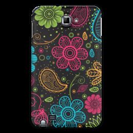 """Чехол для Samsung Galaxy Note """"Цветочный"""" - цветы, узор, стиль, рисунок, орнамент"""