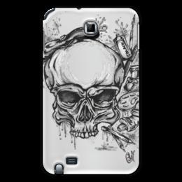 """Чехол для Samsung Galaxy Note """"живой художник"""" - череп, стиль, рисунок, художник"""