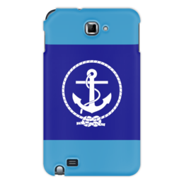 "Чехол для Samsung Galaxy Note ""Морской разведчик"" - море, якорь, канат"