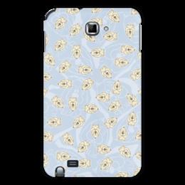 "Чехол для Samsung Galaxy Note ""Собачки"" - dog, голубой, рисунок, собака, собачка"