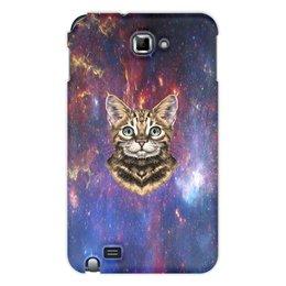 """Чехол для Samsung Galaxy Note """"Кот в космосе"""" - кот, звезды, котенок, космос, коты в космосе"""