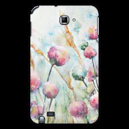 """Чехол для Samsung Galaxy Note """"Цветы. Утро"""" - оригинальный, цветок, акварель, нежный, живопись"""