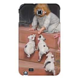 "Чехол для Samsung Galaxy Note ""Картина Артура Элсли (1860-1952)"" - новый год, картина, собака, день матери, артур элсли"