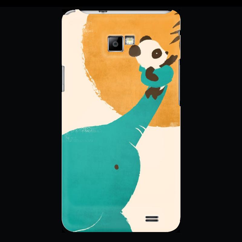 Чехол для Samsung Galaxy S2 Printio Панда и слон позиционеры для сна candide позиционер с подголовником воздухопроницаемая панда air