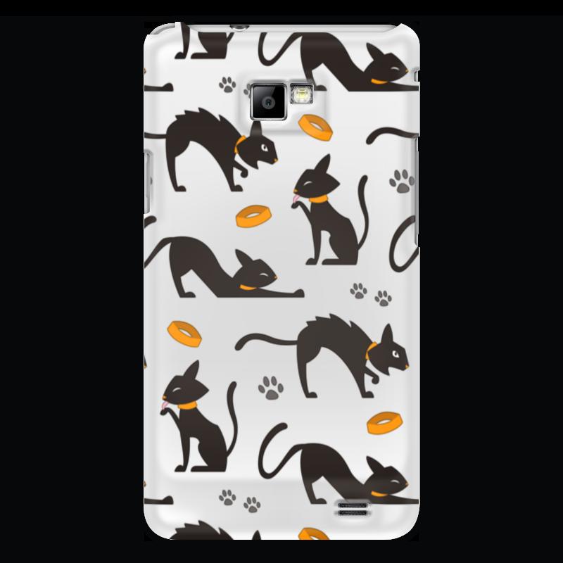 Чехол для Samsung Galaxy S2 Printio Чёрные кошки для кошки
