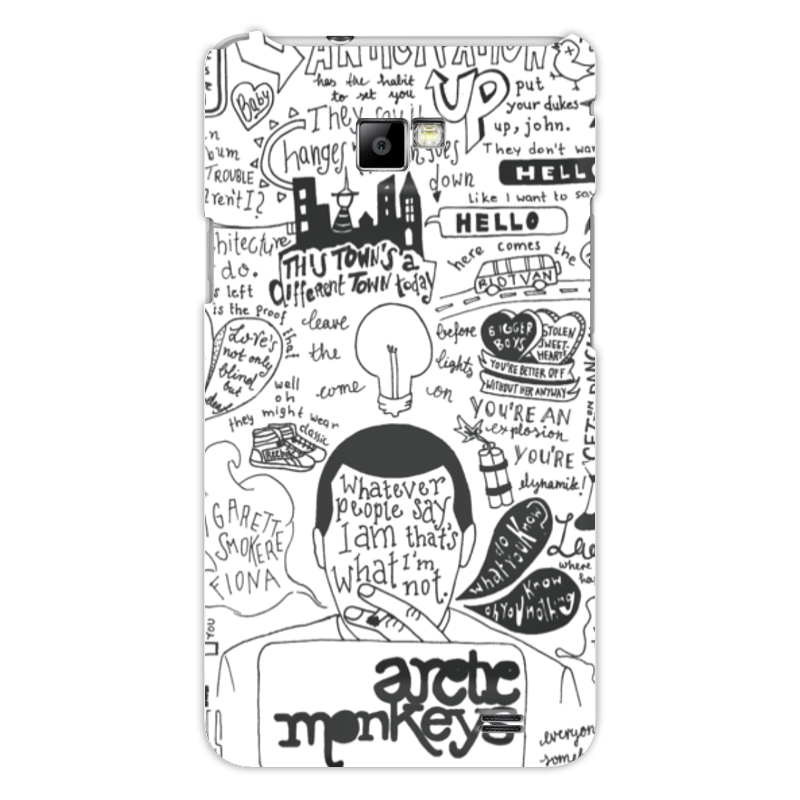 Чехол для Samsung Galaxy S2 Printio Arctic monkeys чехол для samsung galaxy s2 printio череп художник