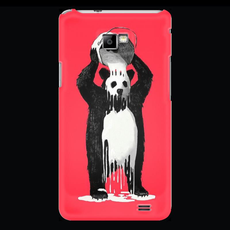 Чехол для Samsung Galaxy S2 Printio Панда в краске позиционеры для сна candide позиционер с подголовником воздухопроницаемая панда air