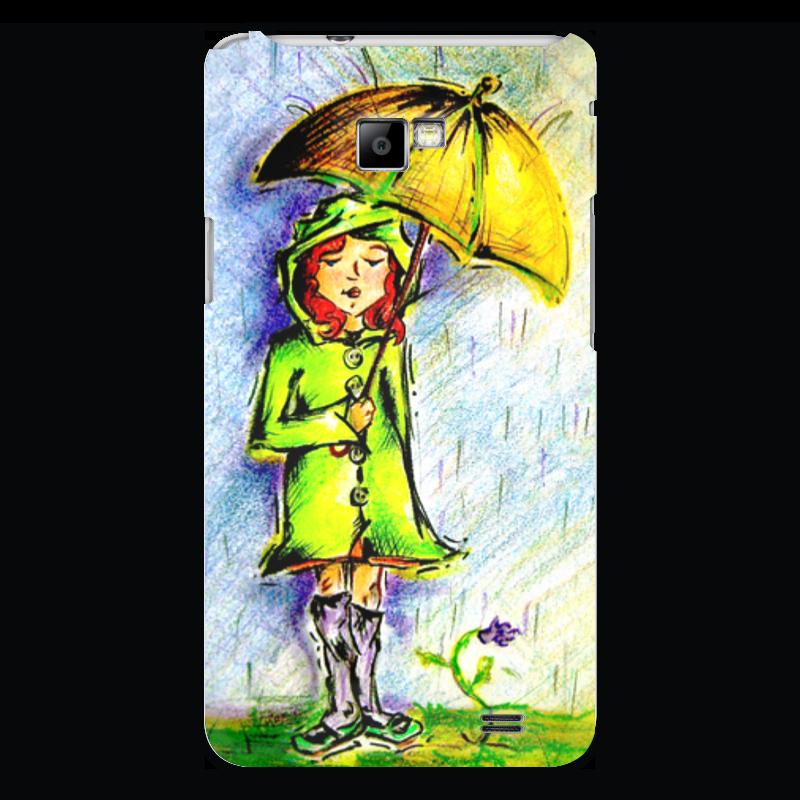 Чехол для Samsung Galaxy S2 Printio Дождик, дождик, уходи!