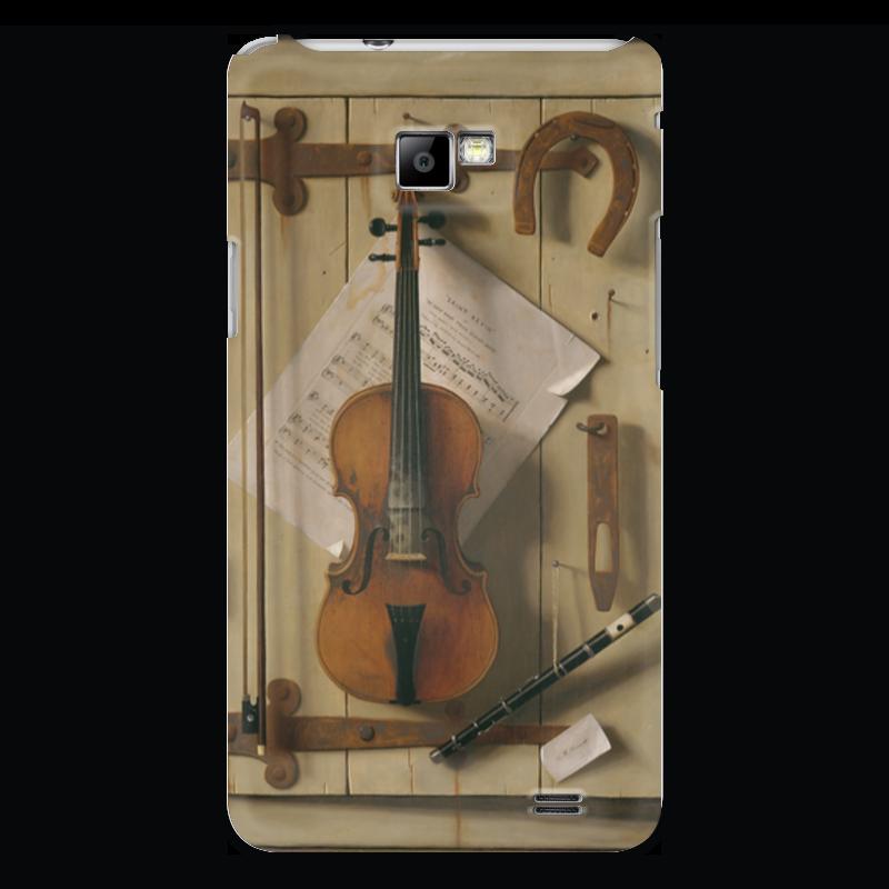 Чехол для Samsung Galaxy S2 Printio Натюрморт со скрипкой (уильям харнетт) пазл castor land 68 47см натюрморт со скрипкой и живописью 1000эл