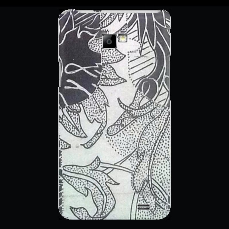 Чехол для Samsung Galaxy S2 Printio Абстракция триптих в черно белых тонах
