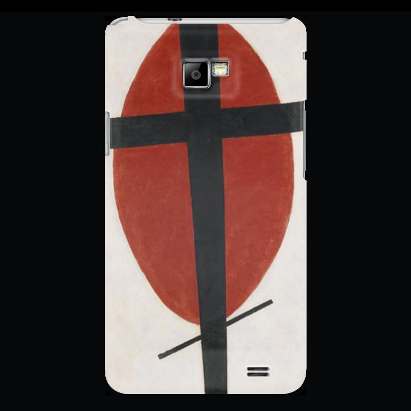 Чехол для Samsung Galaxy S2 Printio Супрематизм (черный крест на красном овале) ожерелье овале