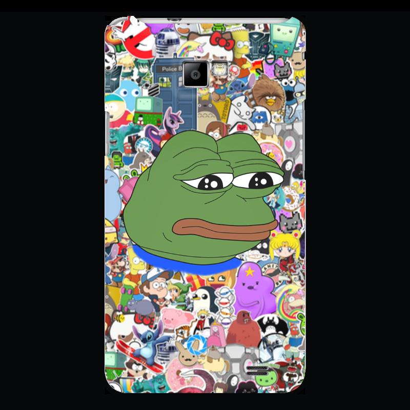 Чехол для Samsung Galaxy S2 Printio Sad frog чехол для samsung galaxy s2 printio череп художник