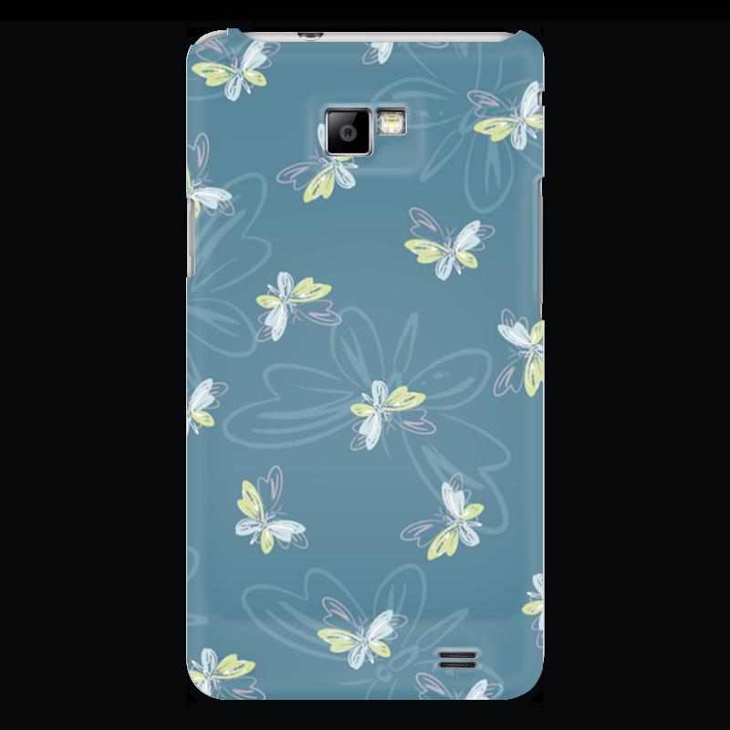 Чехол для Samsung Galaxy S2 Printio Бабочки чехол для карточек пионы на синем фоне дк2017 113
