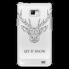 """Чехол для Samsung Galaxy S2 """"Dear Deer"""" - рисунок, дизайн, олень, минимализм, рога"""