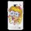 """Чехол для Samsung Galaxy S2 """"Без ума от цветов"""" - любовь, девушка, цветы, сердца, блондинка"""