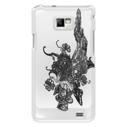 "Чехол для Samsung Galaxy S2 ""Ядовитый плющ"" - череп, девушка, эльф, шляпа, королева марго"