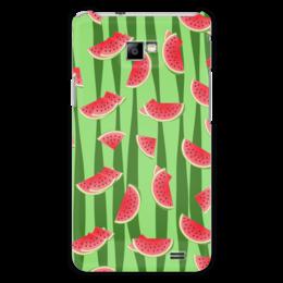 """Чехол для Samsung Galaxy S2 """"Арбуз"""" - полоска, красный, ягода, зеленый, семена"""