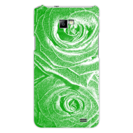 """Чехол для Samsung Galaxy S2 """"Роза зелёная"""" - цветы, зелёный, роза, рисунок, розы"""