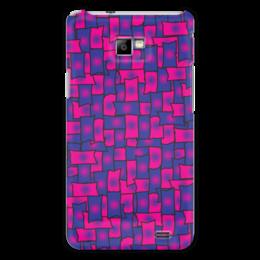 """Чехол для Samsung Galaxy S2 """"Прямоугольники"""" - черный, красный, синий, край, прямоугольник"""