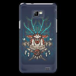 """Чехол для Samsung Galaxy S2 """"Forest Spirit. Лесной Дух"""" - рисунок, олень, фэнтэзи, лесной дух"""