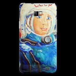 """Чехол для Samsung Galaxy S2 """"Космос СССР"""" - ручная работа, детский рисунок, от детей, детская работа"""