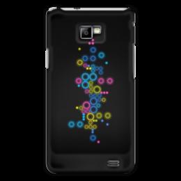 """Чехол для Samsung Galaxy S2 """"Психоделика 2"""" - пузырьки, цвет, абстракция, чёрный фон"""
