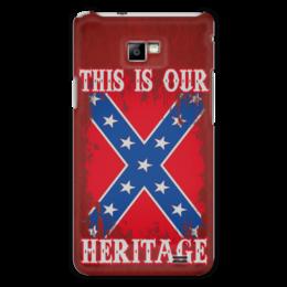 "Чехол для Samsung Galaxy S2 ""Флаг Конфедерации США"" - война, америка, флаг, сша, флаг конфедерации"