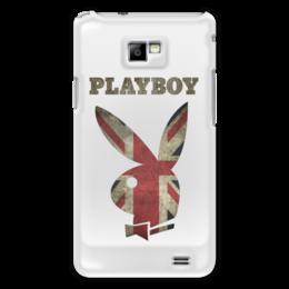 """Чехол для Samsung Galaxy S2 """"Playboy Британский флаг"""" - playboy, плейбой, зайчик, великобритания, плэйбой"""