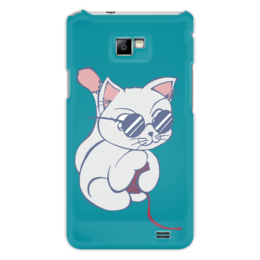"Чехол для Samsung Galaxy S2 ""Котенок с клубком"" - кот, кошка, котенок, очки, клубок"