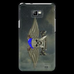 """Чехол для Samsung Galaxy S2 """"ВДВ !!!"""" - армия, нож, вдв, десант, голубой берет"""