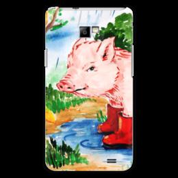 """Чехол для Samsung Galaxy S2 """"Маленькая свинка"""" - ручная работа, детский рисунок, от детей, детская работа"""
