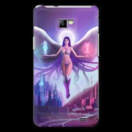 """Чехол для Samsung Galaxy S2 """"Ангел прошлого и будущего"""" - крылья, ангел, руны, будущее"""