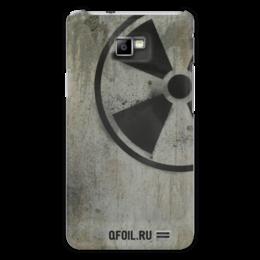 """Чехол для Samsung Galaxy S2 """"Логотип-трафарет"""" - сталкер, тёмная душа"""