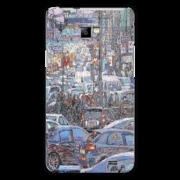 """Чехол для Samsung Galaxy S2 """"Охотный ряд"""" - арт, москва, город, пейзаж, живопись"""