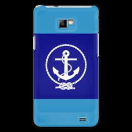 "Чехол для Samsung Galaxy S2 ""Морской разведчик"" - море, якорь, канат"