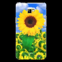 "Чехол для Samsung Galaxy S2 ""Подсолнух"" - лето, цветок, небо, облака, подсолнух"