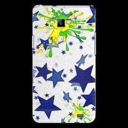 """Чехол для Samsung Galaxy S2 """"Звезды"""" - стиль, звезды, кляксы"""