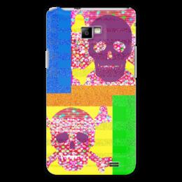 """Чехол для Samsung Galaxy S2 """"Золотой песок"""" - черепа, пираты, побережье, полоски, сокровища"""