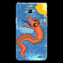 """Чехол для Samsung Galaxy S2 """"Красный дракон"""" - арт, лето, red, дракон, солнце, красный, облако, дизайн, sun, графика"""